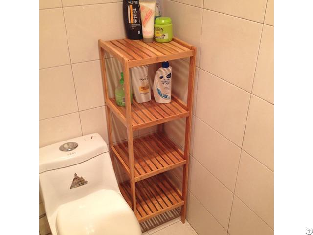 Bamboo 4 Tier Bathroom Storage Rack