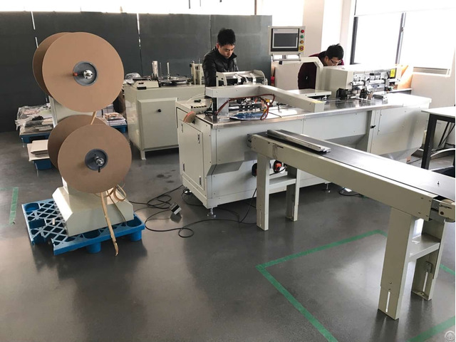 Double Wire Binding And Paper Hole Punch Inline Machine Pwb580