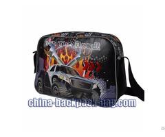 Car Print Kids Twill Shoulder Bags