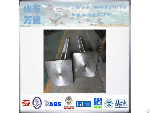 Quality Marine Stern Carrier Forged Steel Rudder Stock For Propeller