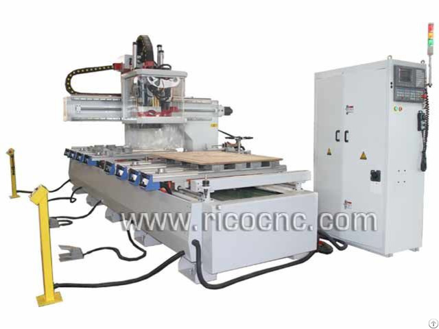 Auto Tool Changer Center Nesting Machine Cnc Router With Drills For Wood Cabinets Making Atc1335vd