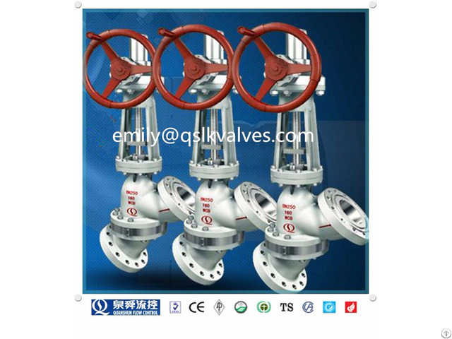 Y Pattern Globe Type Slurry Valve