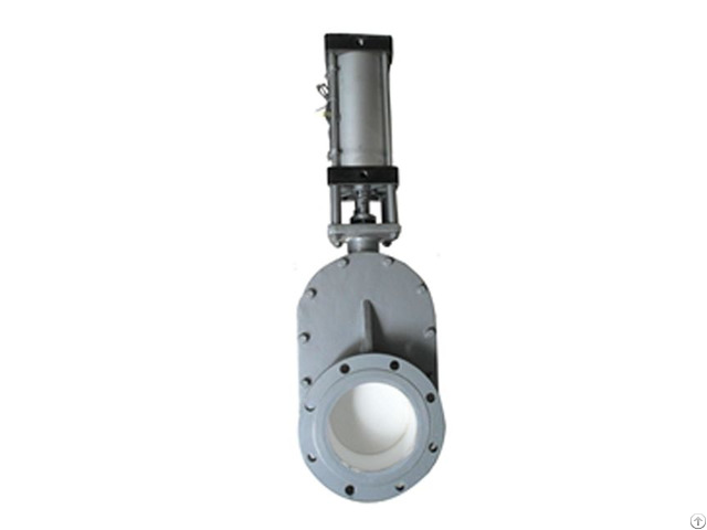 Pneumatic Double Disc Type Ceramic Gate Valve