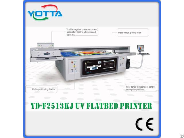 C M Y K W Varnish Uv Inkjet Flatbed Printer