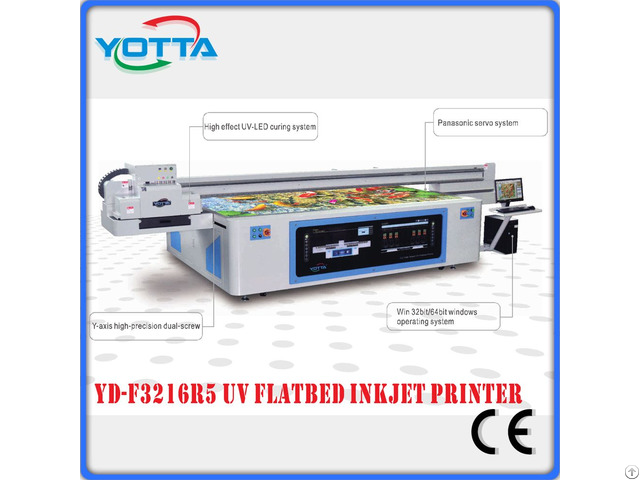 Large Format And High Speed Uv Led Flatbed Printer