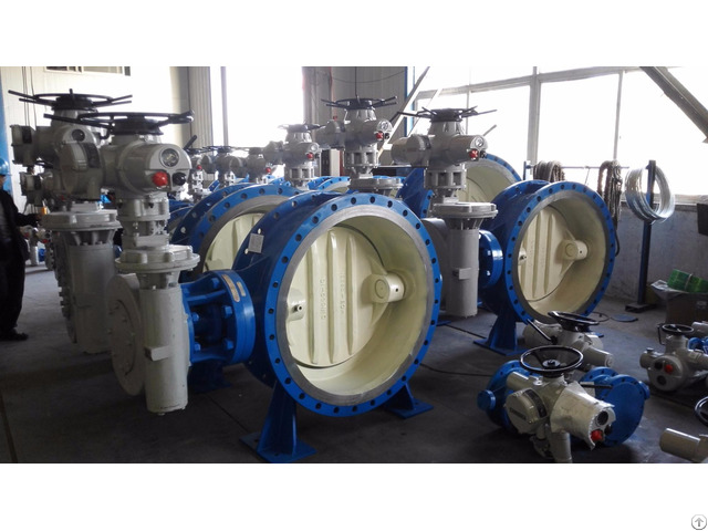 Bidirectional Metal Sealing High Performance Butterfly Type Ball Valve