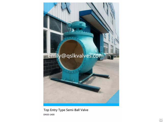 Top Entry Type Double Eccentric Semi Ball Valve For Sewage Water Treatment