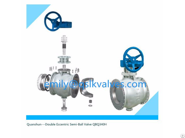 Anti Scaling C Type Ball Valve For Soda Ash Industry