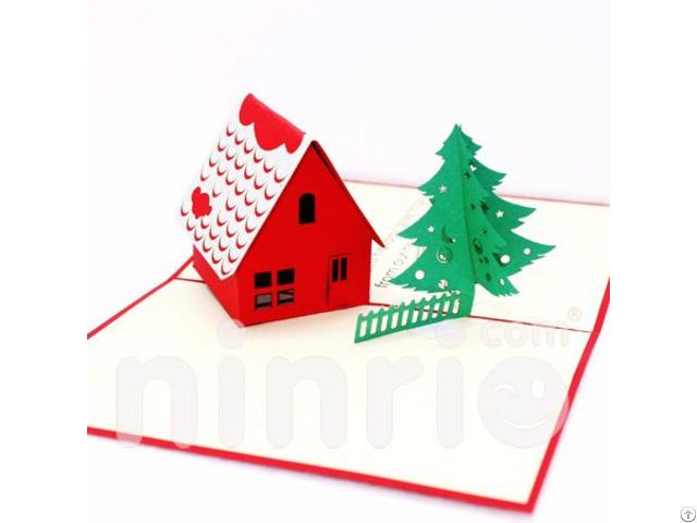 Noel House 3d Pop Up Card