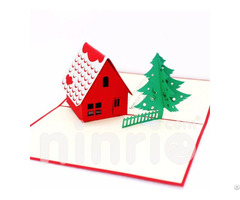 Noel House 3d Pop Up Card