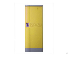 Double Tier School Lockers Abs Plastic Yellow Color