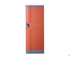 Double Tier Storage Lockers Abs Plastic Orange Color