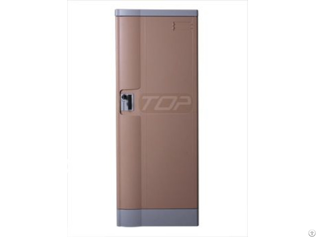 Double Tier Factory Lockers Abs Plastic Coffee Color