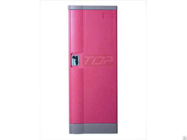 Double Tier Office Lockers Abs Plastic Pink Color