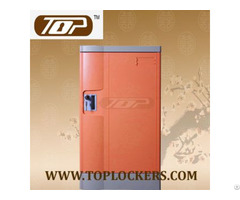 Triple Tier Storage Lockers Abs Plastic Orange Color