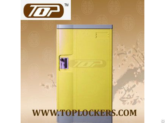 Triple Tier School Lockers Abs Plastic Yellow Color