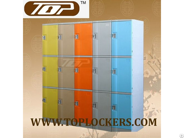 Triple Tier Abs Plastic Cabinets Yellow Color