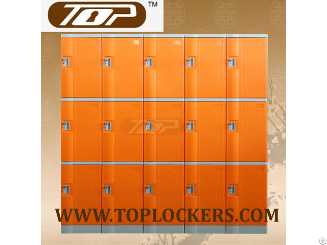 Triple Tier Abs Plastic Cabinets Orange Color