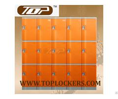 Triple Tier Abs Plastic Cabinets Orange Color