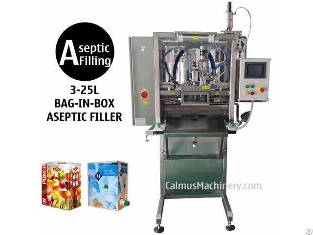 Single Head Bib Aseptic Filler Sterile Products Bag In Box Filling Machine