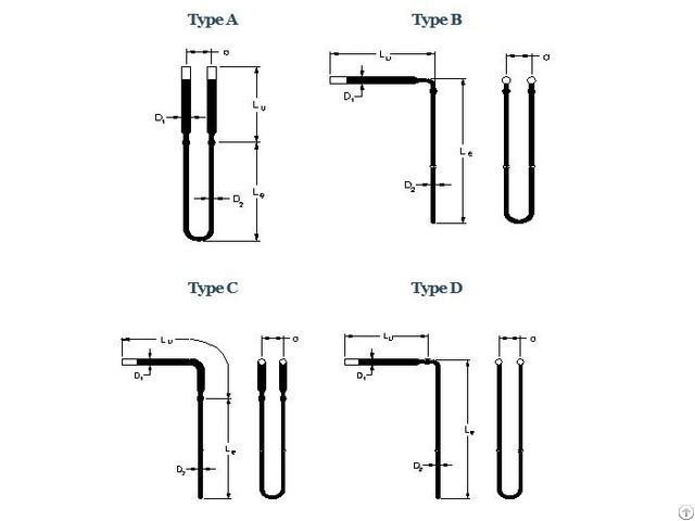Uuu Type Mosi2 Heating Elements