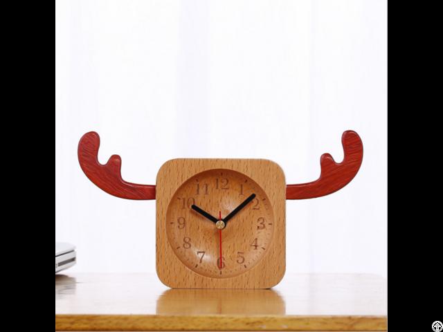 Fashion Design Wooden Desktop Clock Home Decorate