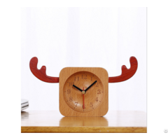 Fashion Design Wooden Desktop Clock Home Decorate