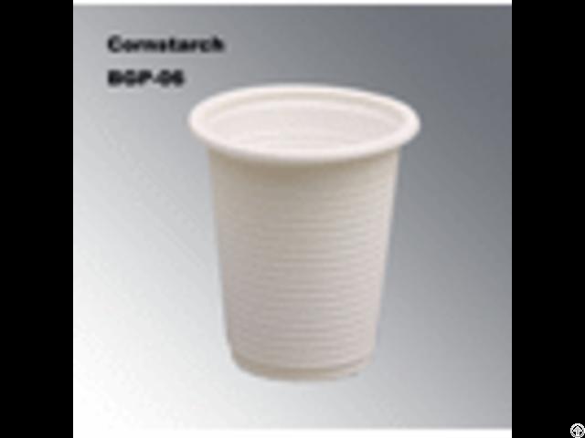 100% Biodegradable Eco Friendly Cornstarch Disposable Tableware Cup Bgp 04
