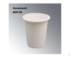 100% Biodegradable Eco Friendly Cornstarch Disposable Tableware Cup Bgp 04