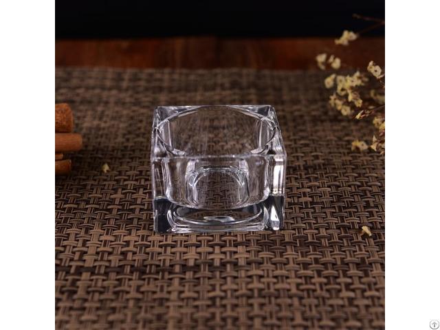 Transparent Square Glass T Light Candle Jar