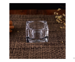 Transparent Square Glass T Light Candle Jar