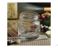 Embossed Clear Candle Glass Jar For Home Decor