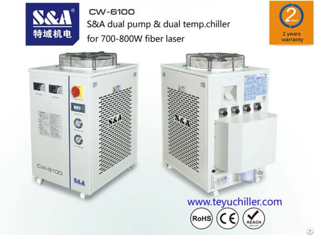 S And A Recirculating Chiller Cw 6100at For Raycus 500w Laser