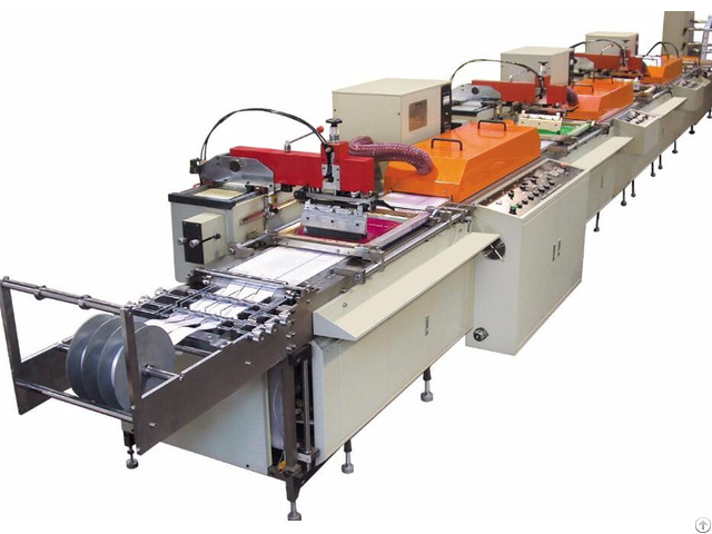 Multi Color Silk Screen Satin Ribbon Care Label Printing Machine