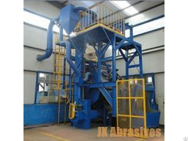 Rubber And Steel Belt Tumblast Machine