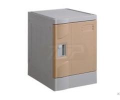 Six Tier Eco Friendly Plastic Lockers Coffee Color