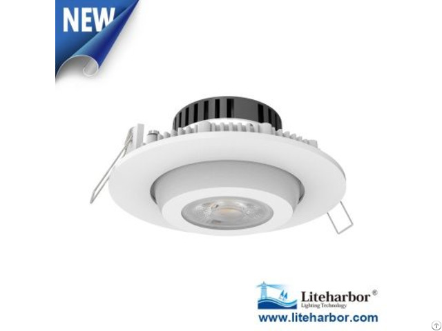 Recessed Mount Round Gimbal 4 Inch Led Downlight Retrofit