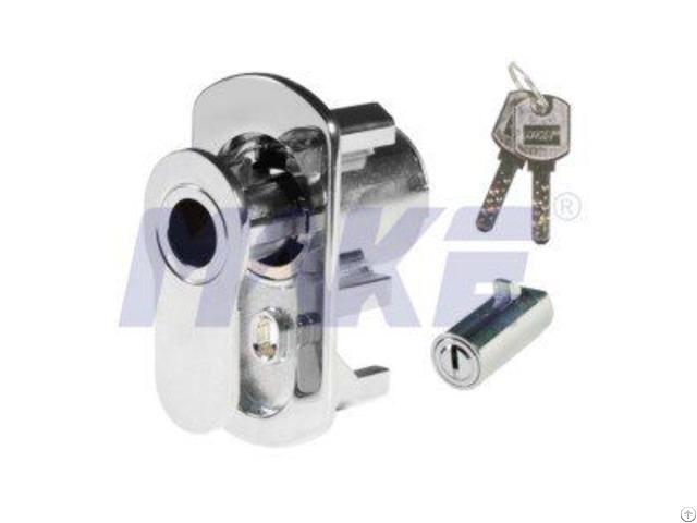 Brass Vending Machine Lock L Pop Out Handle Operation