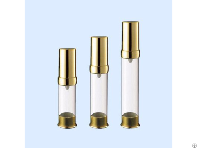 Airless Bottle With Shinning Gold
