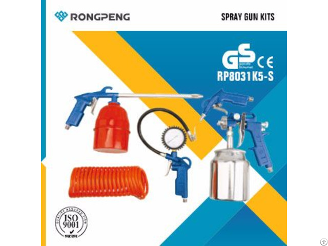 Rongpeng 5pcs Air Spray Gun Kits R8031k5-s