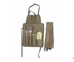 Foldable Bbq Apron With Tools My20b 085