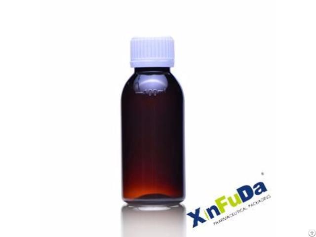 60ml Plastic Amber Liquid Medicine Bottle