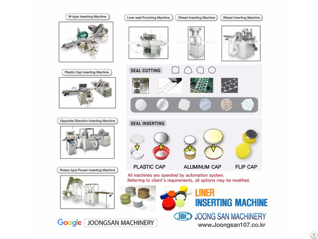 Liner Seal Inserting And Cap Lining Machine
