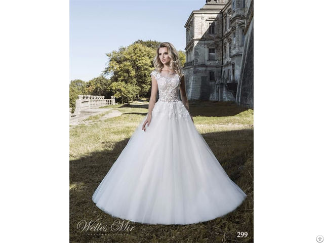 Zoom China Suppliers Custom Made A Line Wedding Dress With Lace Appliqued