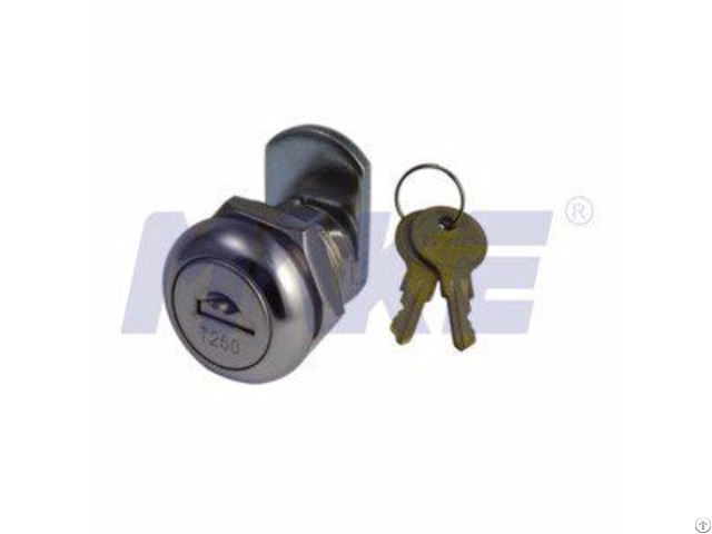 Zinc Alloy Cam Lock With Dust Shutter Shiny Chrome Nickel Plated