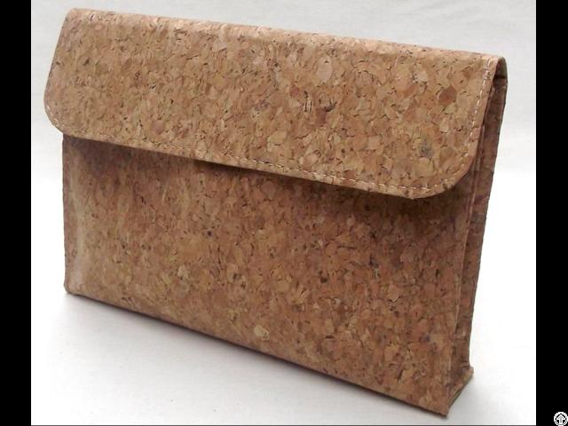 Natural Cork Wood Materials Portable Briefcase Bag