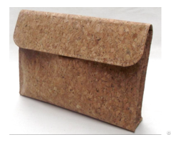 Natural Cork Wood Materials Portable Briefcase Bag