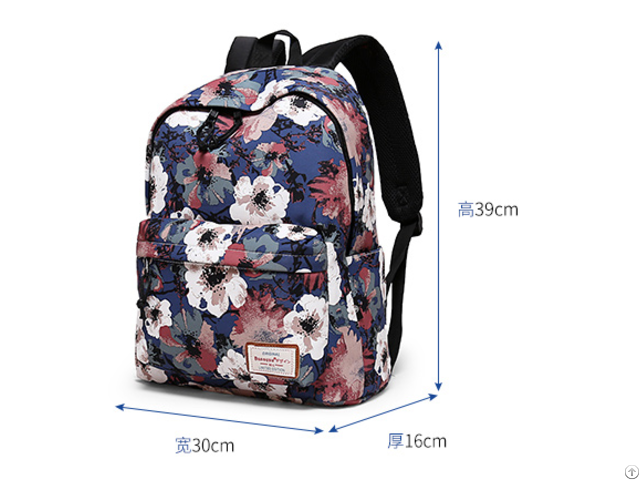 Waterproof Girls Canvas Laptop Backpack 14inch