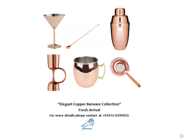 Elegant Copper Collection-bar Ware
