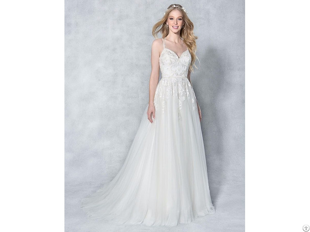 Strapless Bridal Gown Sheath Wedding Dress With France Lace